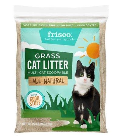A bag of Frisco Grass Cat Litter