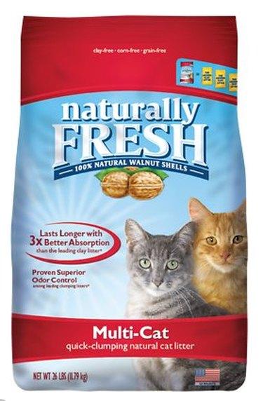 A bag of Naturally Fresh Walnut Litter