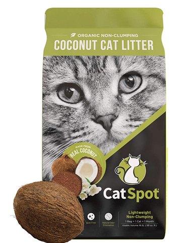 A bag of CatSpot Coconut Litter