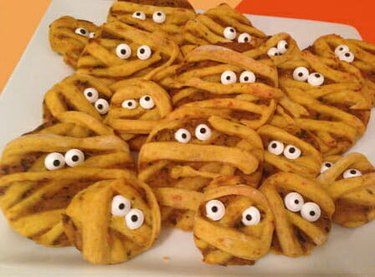 Cheesy Pumpkin Mummies