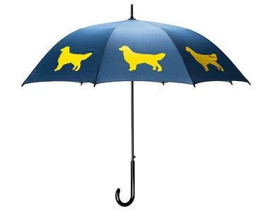 6-panel umbrella with golden retrievers on it