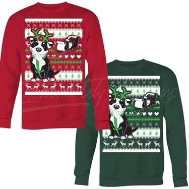 pitbull holiday sweater