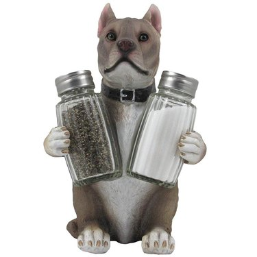 pit bull salt and pepper shakers