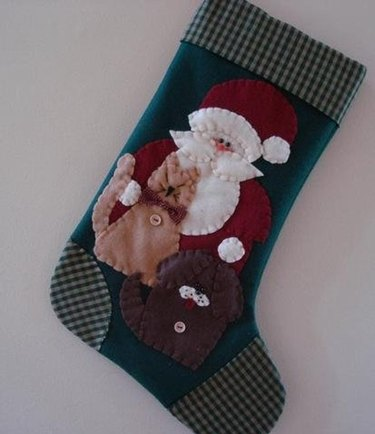 Dog and Santa Stocking