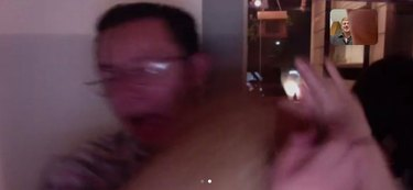 cat jumps out of lap during zoom chat