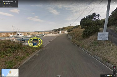 Google Street View car captures Japanese dog doin a chase