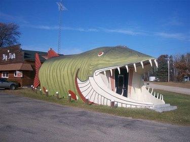 building shaped like fish