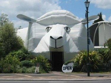 building shaped like sheep