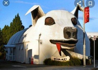 building shaped like sheep dog