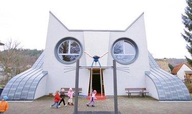 school shaped like a cat