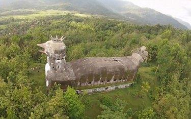 chicken church in Indonesia
