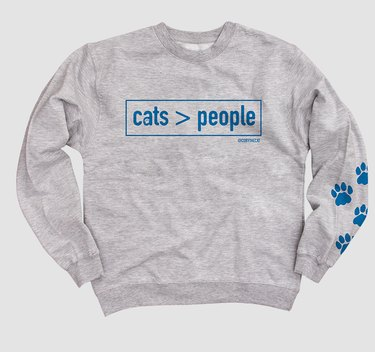 Cats are greater than people sweatshirt