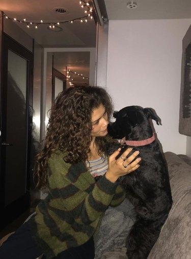 Zendaya and dog