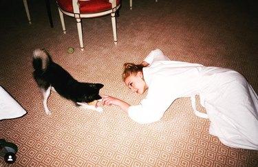 Sophie Turner and her dog