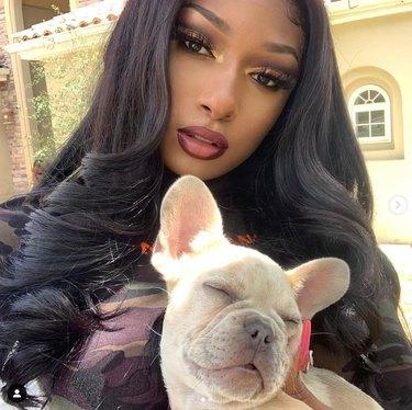 Megan Thee Stallion and dog
