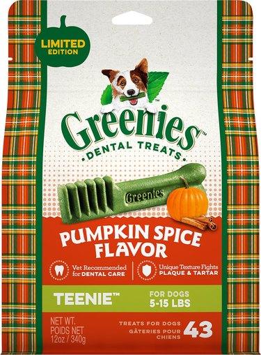 pumpkin spice dental treats for dogs