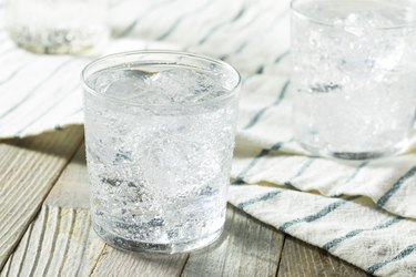 Fresh Spring Sparkling Water on table