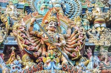 Representations of gods, Sri Meenakshi Sundareshwarar temple, Madurai, Tamil Nadu, South India, India