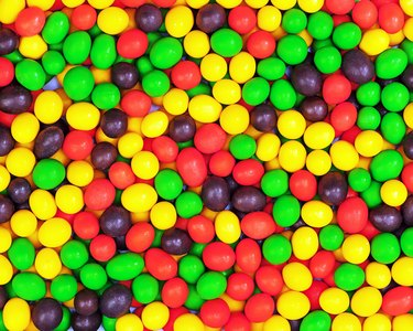 Multicolored candies for use as background
