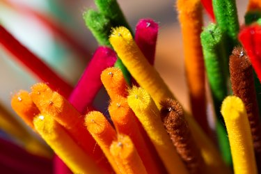 Bright Colored Pipe Cleaners Background