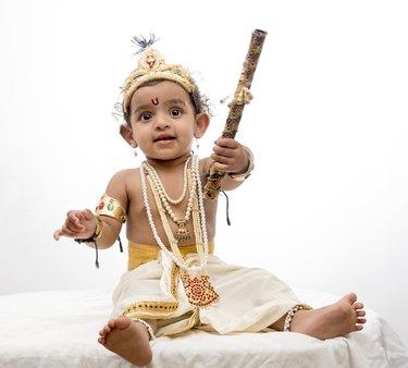 Little girl in krishna dress