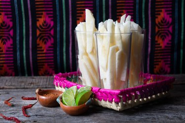 Mexican jicama cut with lime