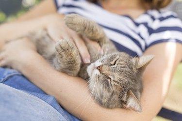 Joy of being cuddled
