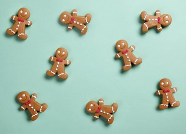 Christmas Gingerbread Man Background