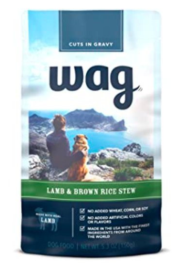 Wag Wet Dog Food Topper (Lamb & Brown Rice Stew)