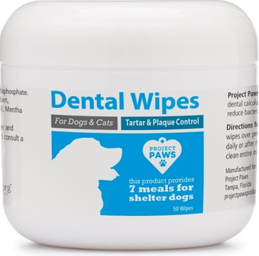 Project Paws Tartar & Plaque Control Dog Dental Wipes