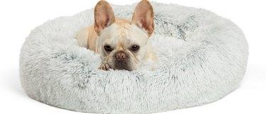Best Friends by Sheri Calming Fur Donut Cuddler Dog  Bed