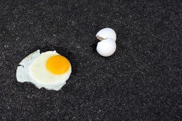 hot fried egg pavement