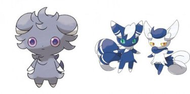 Espurr and Meowstic Pokemon cats