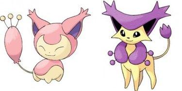 Skitty and Delcatty Pokemon cats