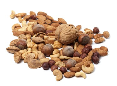 a pile of nuts