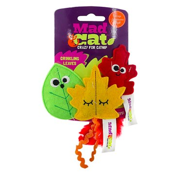 Mad Cat Crinkling Leaves Catnip Toy