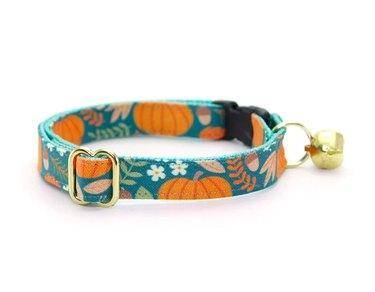 Pumpkin Patch Harvest Breakaway/Non-Breakaway Cat Collar & Accessories by MadeByCleo