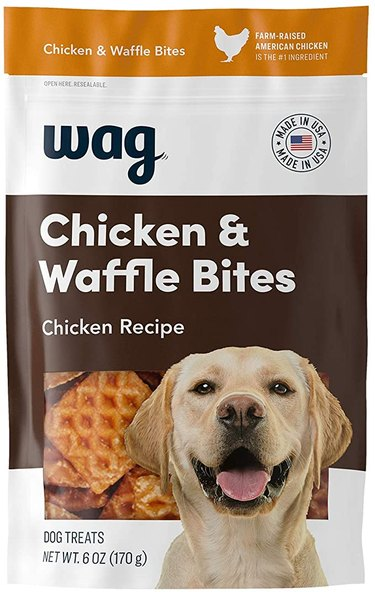 Wag Treats, Chicken and Waffle Bites