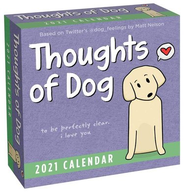 cover art for Thoughts of Dog 2021 calendar