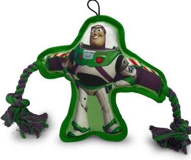 Hyper Pet Disney Buzz Lightyear Flat Squeaker Rope Dog Toy