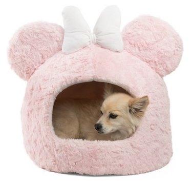 Best Friends by Sheri Disney Minnie Mouse Pink Shag Fur Hut