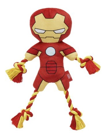 Marvel's Ironman Plush with Rope Squeaky Dog Toy