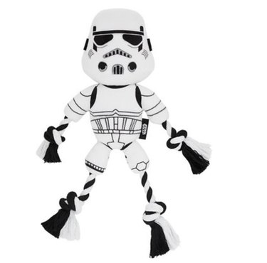 Star Wars Stormtrooper Plush with Rope Squeaky Dog