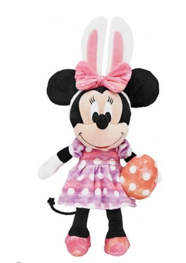 Minnie Mouse with Easter Egg Plush Squeaky Dog Toy