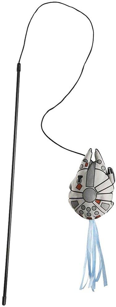 Star Wars Millennium Falcon Teaser Cat Toy with Catnip