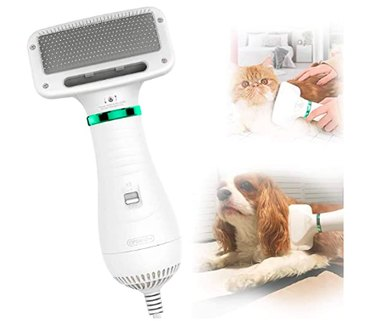 PETRIP Dog Hair Dryer Pet Dryer Professional Grooming Blower Dog Slicker Brush
