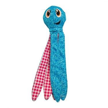 Outward Hound Floatiez Octopus Squeaky Plush Dog Toy