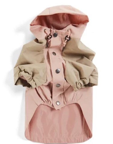 Youly The Nature Lover Pink Colorblocked Dog Raincoat