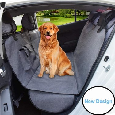 AMOFY Dog Seat Cover for Car Back Seat