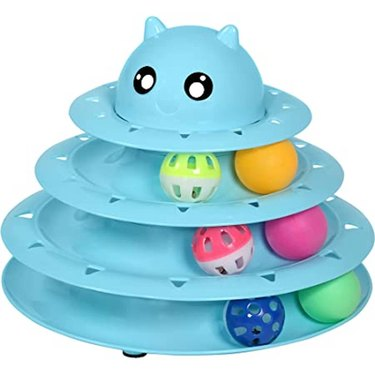 UPSKY Cat Toy Roller 3-Level Turntable Cat Toy Balls